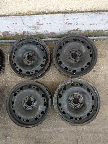 5x100 15 Gyári lemezfelni Audi, Skoda,Volkswagen 22000ft a 4db /14/