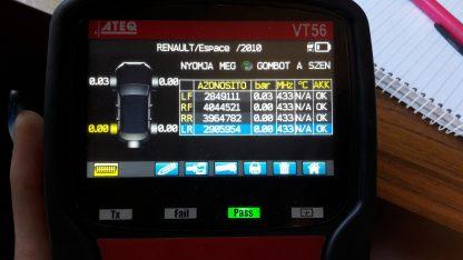 Gyári Renault nyomásérzékelő 20000ft a 4db /4/
