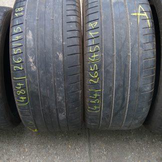 265/45 R18 Dunlop nyári gumi 26000ft a 2db /484/